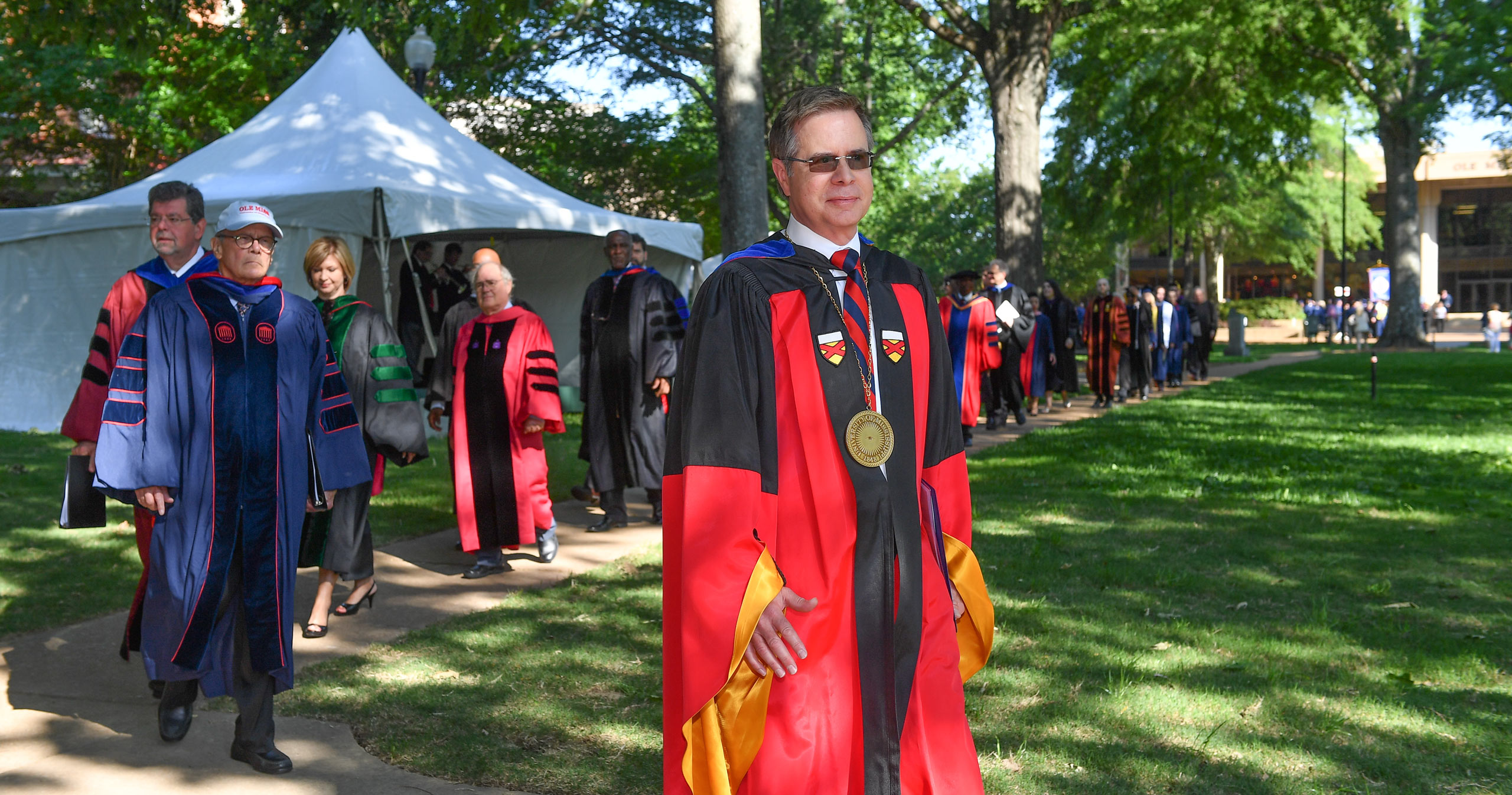This is a photo of Chancellor Vitter at the May 2016 commencement.
