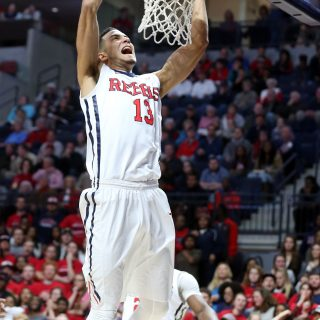 Ole Miss Men's Basketball vs Auburn on January 27th, 2016 at The Pavilion at Ole Miss in Oxford, MS.