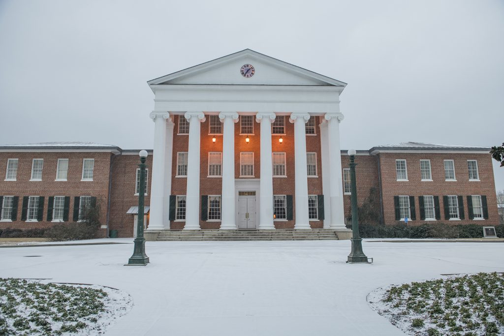 Wintersession 2018 became a winter wonderland and we're glad that we were able to host final exams after three consecutive snow days. Thanks for being 'cool' about it! Photo by Thomas Graning/Ole Miss Communications