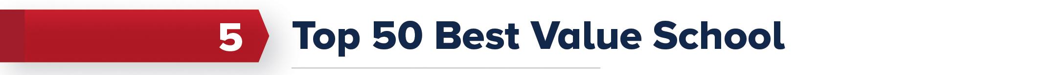 5. Top 50 Best Value School