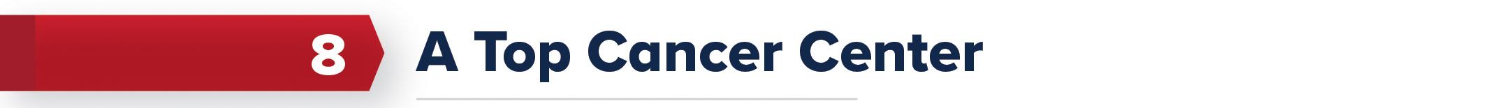8. A Top Cancer Center
