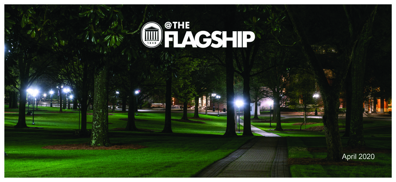 UM Crest, @The Flagship Logo, April 2020, Grove at night empty