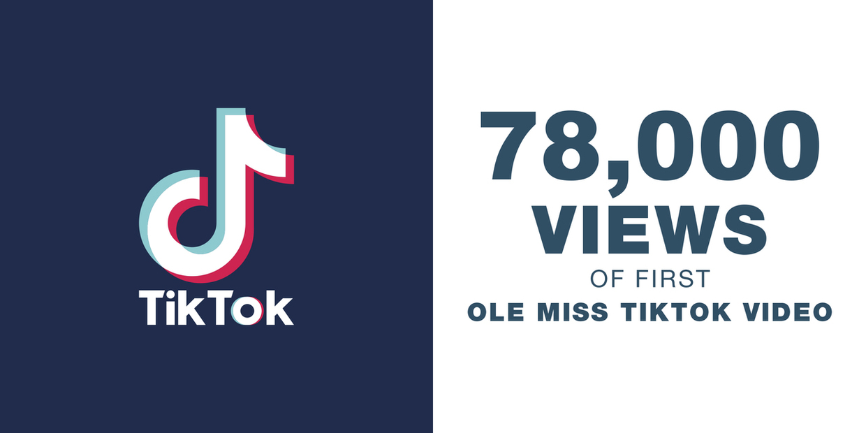 70,000 views in 1 week for first Ole Miss Tiktok video