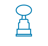 Line drawing of an award trophy
