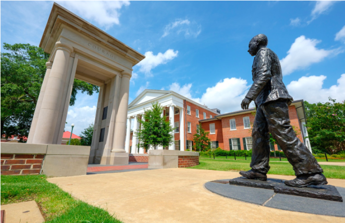 James Meredith Statue in front of the Lyceum